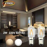 2x Ba15d LED 2W Birne Doppelkontakt Bajonett Sockel T22 Nähmaschine Beleuchtun