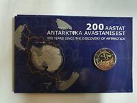 """Coincard Estland 2020 mit 2 Euro Gedenkmünze """" Antarktis """"   BU"""