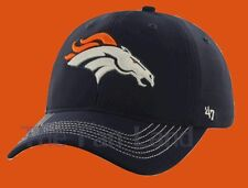 New NFL Denver Broncos '47 Brand Navy Blue Game Time Closer Flex Fit Hat Cap