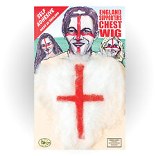 ENGLAND HAIRY CHEST ST GEORGE ENGLISH FLAG PRINT FANCY DRESS ACCESSORY