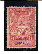 Argentina vsalor Fiscal del año 1915 (AO-135)