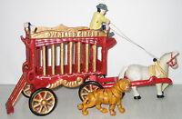 Zirkuswagen, Gusseisen, Tigerkäfig, Nostalgie-Stil, 30x18x9cm