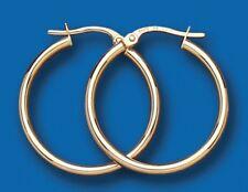 Hoop Earrings Medium Weight Gold Hoop Earrings Yellow Gold Hoop Creole 23mm