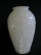 """Lenox """"MASTERPIECE"""" Medium Vase  8"""" Trimed in 24 karat Gold"""
