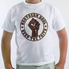 T-Shirt Northern Soul, maglietta bambino con logo Keep the faith, musica dance