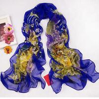Fashion Women Long Chiffon Scarf Wrap Ladies Shawl Large Scarves NEW