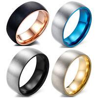 Men's Ring, Titanium Wedding Ring 8mm Matte Finish Wedding Band, Comfort Fit
