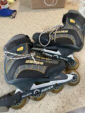 Bauer Xtra 6.0 Roller blades Inline Skates Size 7 Mens Hockey Roller Blades Blue