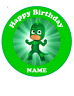 Green PJ Masks personalised edible Image cake topper real edible icing 19cm #135