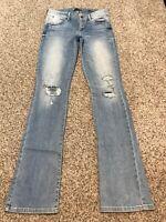 Women's Jeans GUESS SLIM BOOT CUT JEANS Size 26 Actual 28x33 Rise 7.5