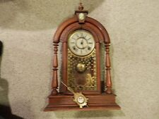 E. N. Welch Antique Vintage Shelf Clock 8 day  Time & Strike Working.
