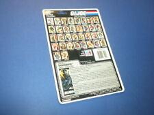 GI/G.I. JOE FILE CARD - SHOCKWAVE/1987 - uncut full back NICE!