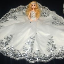Usa Amazing Wedding Dress for Barbie Doll Princess Evening Party Clothes Wears
