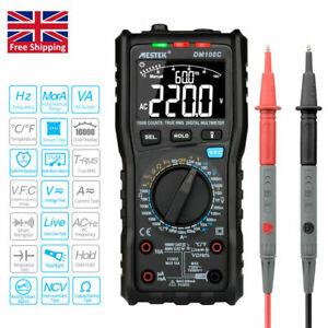 MESTEK 10000 Counts True RMS Digital Multimeter AC/DC Voltage Current Tester