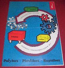 Prospetto QUADERNO ALT Saar polybox plastibox rapidbox magazzino box 1962 Insegne Pubblicità