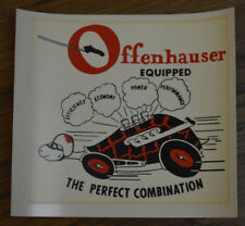 ORIGINAL VINTAGE OFFENHAUSER WATER DECAL HOT ROD AUTO DRAG RACING OFFY RAT INDY