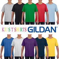Gildan Cotton Plain Childrens T Shirt Wholesale Supplier Boys Girls T-Shirt Top