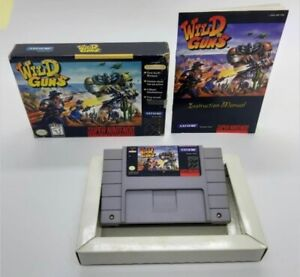Wild Guns Super Nes Nintendo Snes CIB complete With Box And Manual