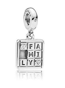 Genuine Pandora Charm Sterling Silver Family Game Hanging Dangle 797626CZ