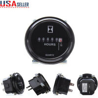 "12V 24V 36V Digital Hour Meter fr Car Marine Boat Generator Engine 2""Round Gauge"