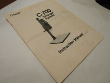 RARE ORIGINAL GENUINE OMEGA C-700 ENLARGER USER INSTRUCTION MANUAL GUIDE BOOK