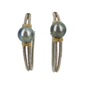 Lagos | Luna Pearl Hoop Earrings