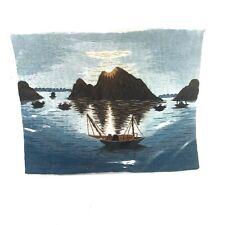 Hand Embroidered Landscape From Vietnam Thin Cotton Art