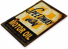Speedway Motor Oil Gas Oil Garage Auto Shop Rustic Metal Decor Sign
