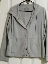 cato gray XL snap open front pockets drawstring hoodie