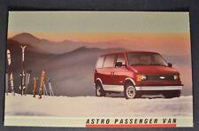 1988 Chevrolet Astro Passenger Van Truck Postcard Brochure Excellent Original 88