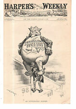 1898 Harper's Weekly January 15-Uncle Sam is burdened by fraudulent entitlements