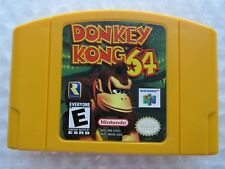 Donkey Kong Nintendo 64 N64 Authentic Yellow Video Game Cart DK Retro Kids GREAT