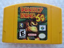 Donkey Kong Nintendo 64 N64 Authentic OEM Yellow Video Game Cart DK Kids GREAT!