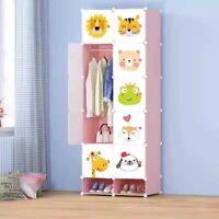DIY Modular 10 Cube Shelving Wardrobe Storage Unit Organizer Interlocking Doors