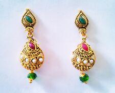 Indian Jhumki Gold Plated Earring Ethnic Jhumka Bollywood Pretty Fashion Jewelry