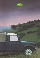 Land Rover Defender 90 110 Sales Brochure 1986