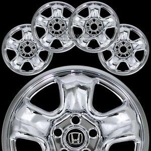 "4 fits Honda CRV 2012-16 Chrome 16"" Wheel Covers Rim Skins Hub Caps Steel Wheels"