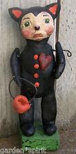Folk Art Halloween Cat Doll Trick Or Treater Vintage Nostalgic Style Ooak