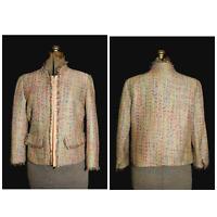 Women's Willi Smith Size 6 Tweed Jacket Blazer, Shorter Style Multi Color Flecks