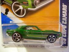 Hot Wheels '68 Copo Camaro Muscle Mania Green