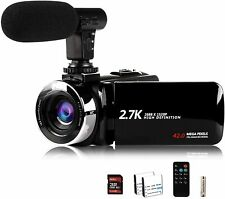 Digital Video Camera 42MP 2.7K Camcorder Night Vision FHD 1080P Vlogging Youtube