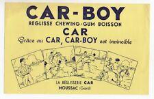 Buvard publicitaire réglisse chewing gum Car Boy