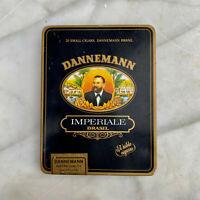 Vintage Dannemann Brasil Pierrot Imperiale Advertising Black Tin Cigar Box