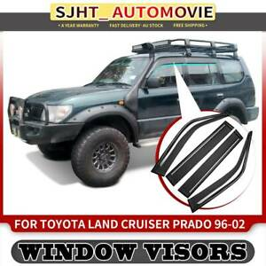 4x Weather Shield Window Visors for Toyota Land Cruiser Prado 90 95 Series 96-02