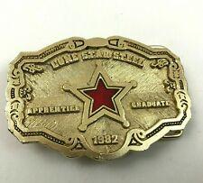 VINTAGE Ironworker Belt Buckle Rod Buster Apprentice Graduate Lone Star Steel Co