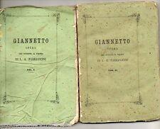 Parravicini ; GIANNETTO opera in 2 volumi che ottenne il premio...; Napoli 1859