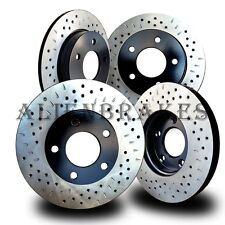 FOR011SD Ford Explorer Standard Brakes 2011-17 Rotors Cross Drill & Dimple Slots
