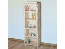 Lavish Home Five Tier Wood Storage Shelving Rack With Removable Cover