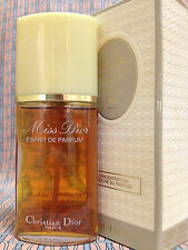 Vintage 80s Miss Dior RARE 1 oz 30 ml ESPRIT PARFUM Christian Dior OLD FORMULA