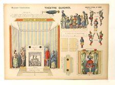 Pellerin Imagerie D'Epinal 1022 Moyennes vintage Construction Theatre Guignol